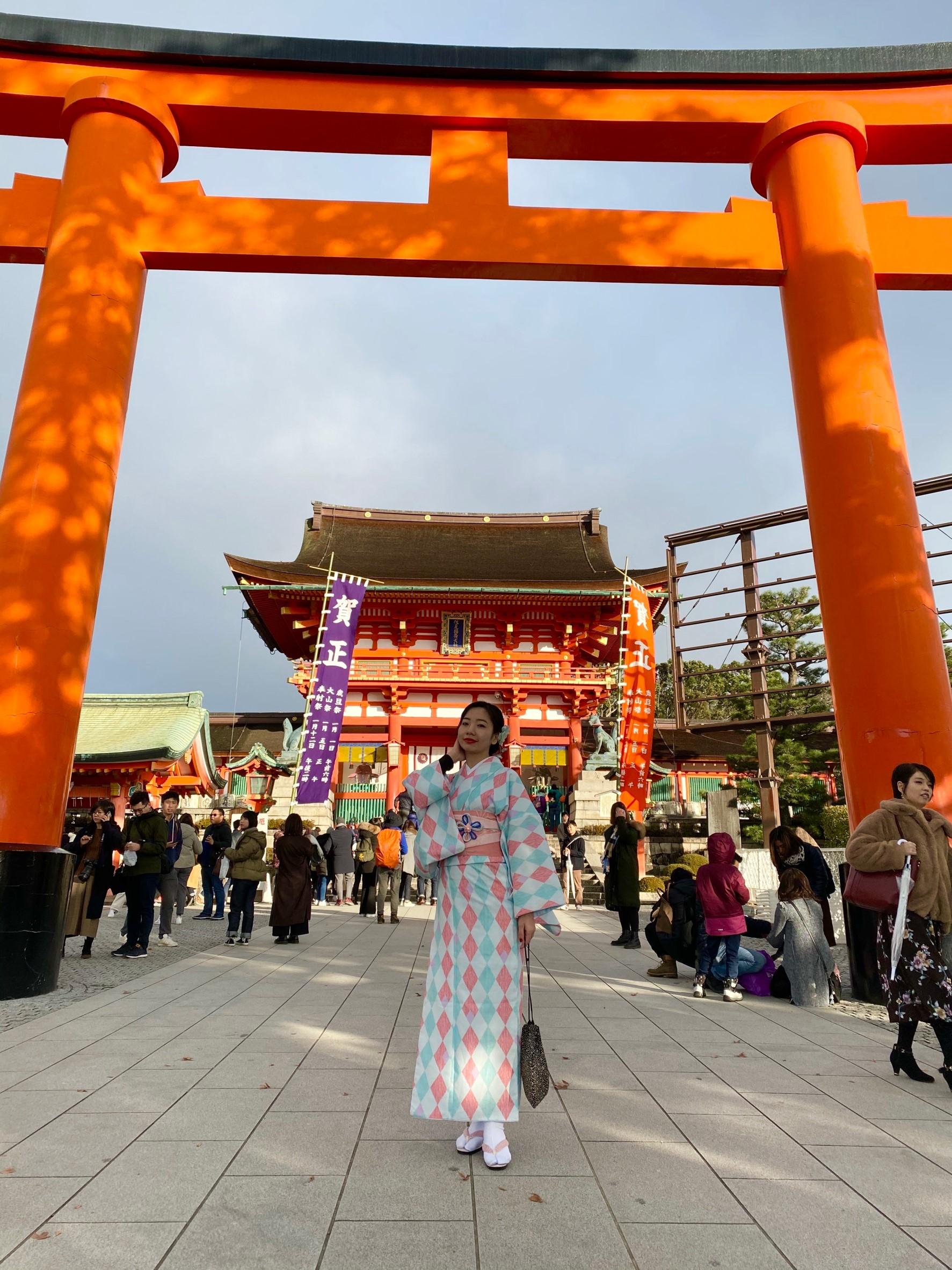 年末に京都で着物レンタル2019年12月27日3