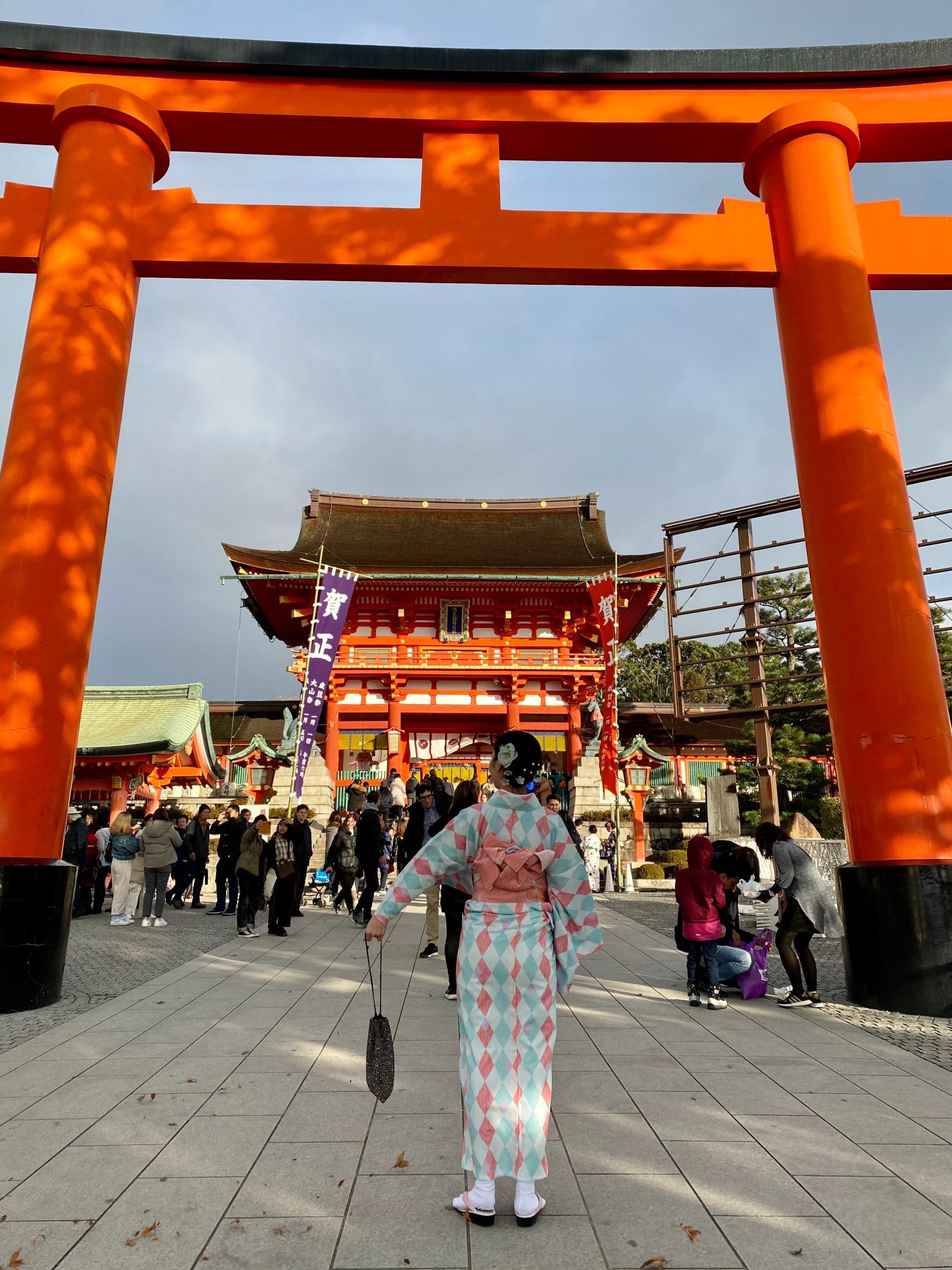 年末に京都で着物レンタル2019年12月27日2