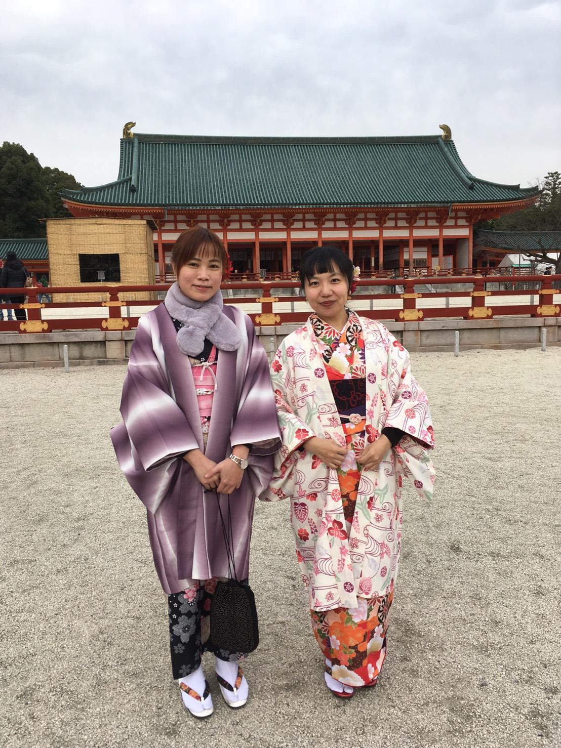 台湾から着物で平安神宮へ2019年12月21日3