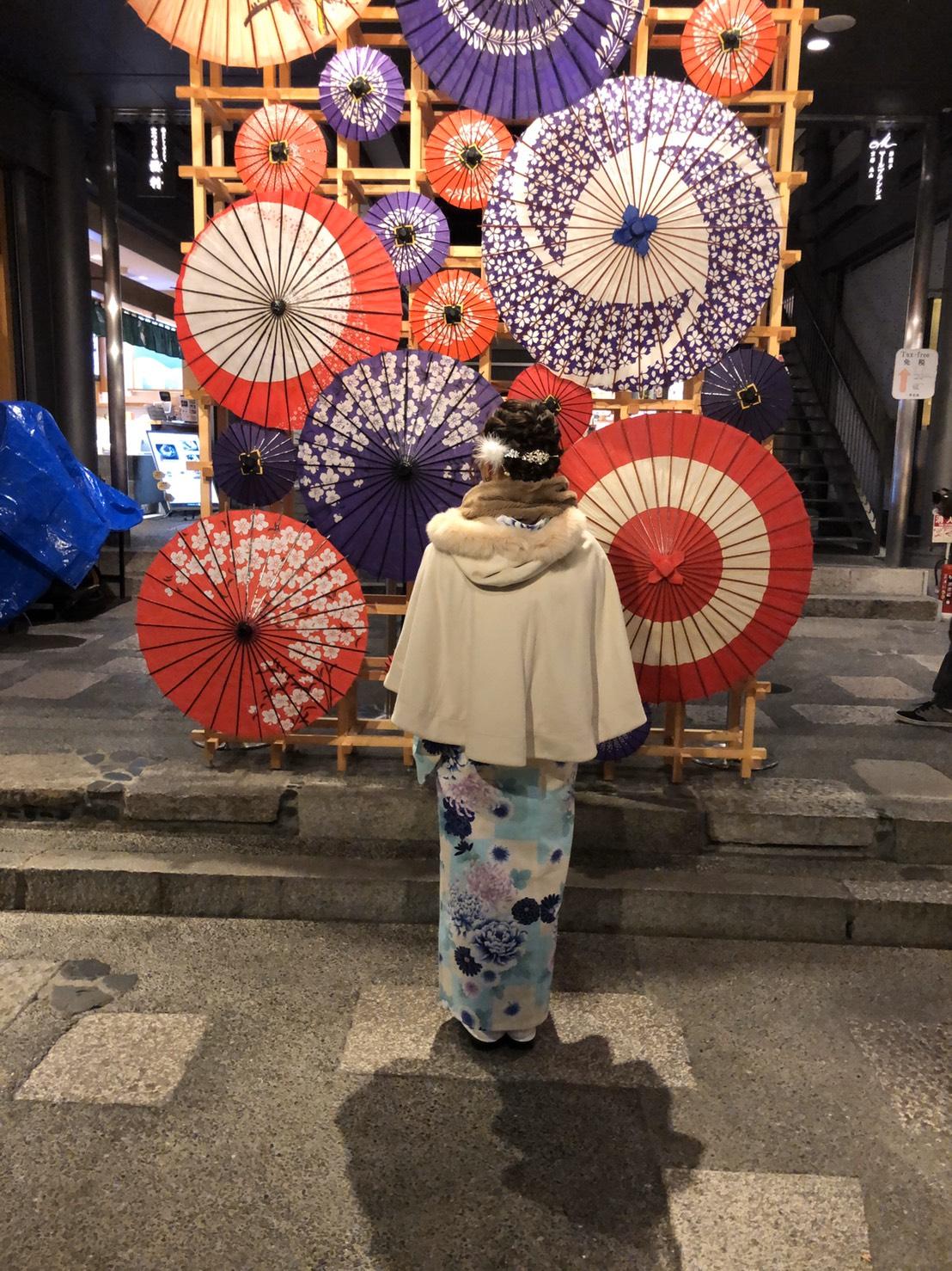 お客様全員嵐山花灯路2019へ2019年12月19日2