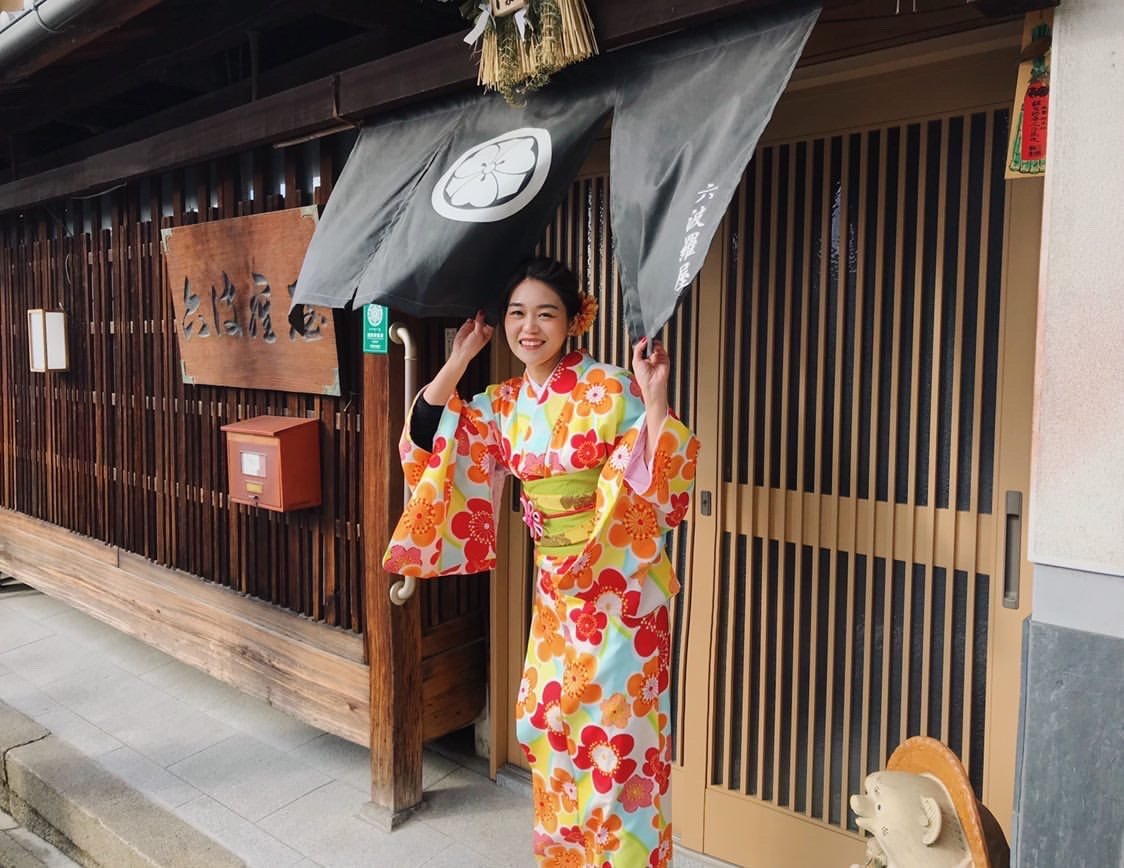 海外から京都で着物体験♪2020年1月30日2