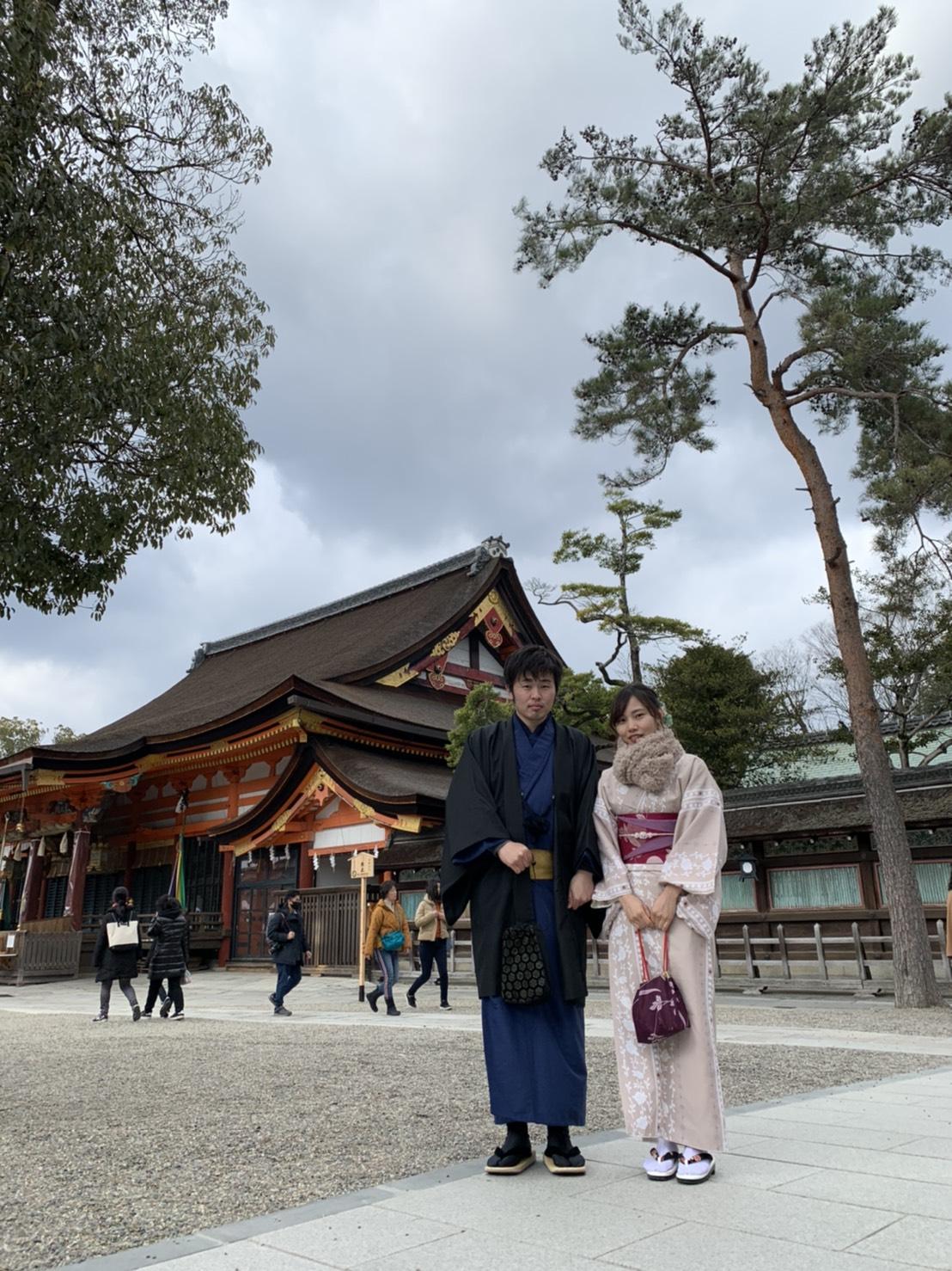 カップルで冬の京都を着物で満喫♡2020年2月8日1