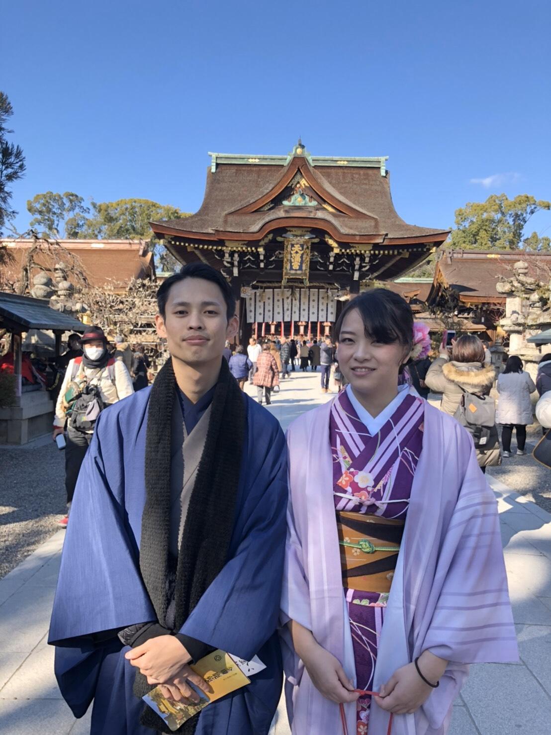 カップルで北野天満宮へ♡2020年2月11日3