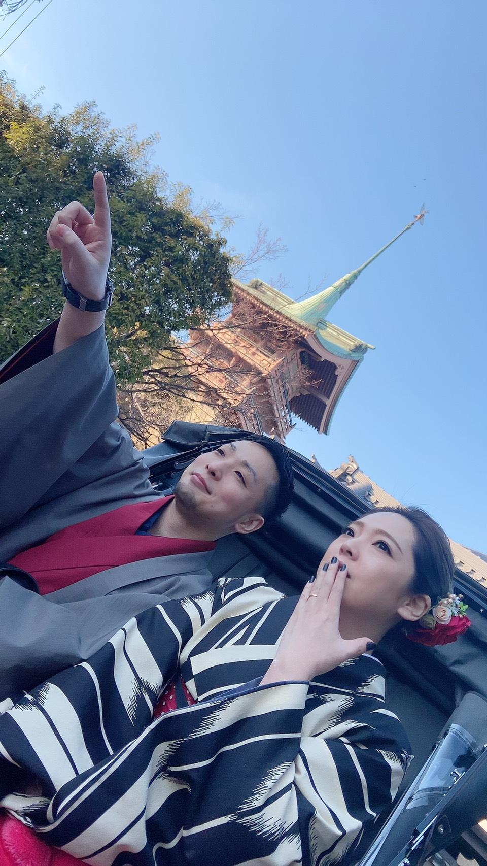 カップルで北野天満宮へ♡2020年2月11日6